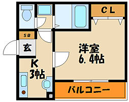 A-west人丸[3階]の間取り