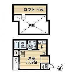 レア吉塚[2階]の間取り