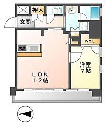 FIRST RESIDENCE SAKAE(ファースト)[9階]の間取り