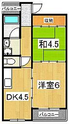 六角シティハイツ[3階]の間取り
