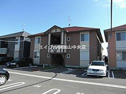 岡山県岡山市中区平井5丁目の賃貸アパートの外観