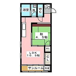 SK'BUILDING−21[7階]の間取り