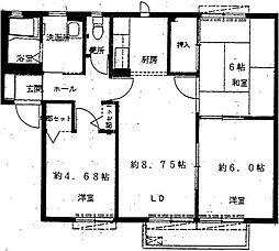 パークヒルいずみ中央G棟[2階]の間取り
