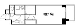 阪神なんば線 ドーム前駅 徒歩3分の賃貸マンション 2階1Kの間取り