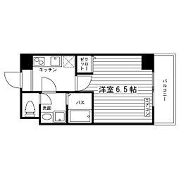 Osaka Metro谷町線 太子橋今市駅 徒歩4分の賃貸マンション 1階1Kの間取り