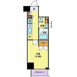 都営浅草線 三田駅 徒歩7分の賃貸マンション 2階1Kの間取り