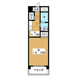 ブルースカイマンションVII[5階]の間取り
