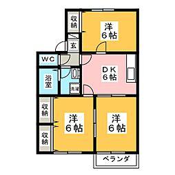 コート・エスプリE[2階]の間取り