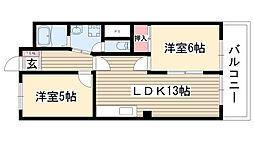 愛知県名古屋市名東区勢子坊4丁目の賃貸マンションの間取り