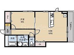 サンコート徳庵[1階]の間取り