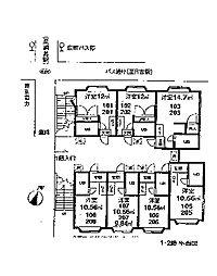 綱島グレイス[205号室]の間取り