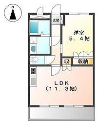 兵庫県姫路市土山2丁目の賃貸マンションの間取り