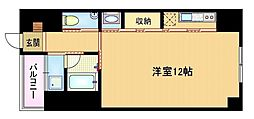 Osaka Metro長堀鶴見緑地線 大阪ビジネスパーク駅 徒歩2分の賃貸マンション 7階1Kの間取り