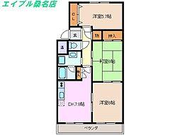 三重県桑名市長島町松ケ島の賃貸マンションの間取り