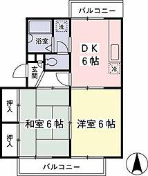 サニーハウス[205号室]の間取り