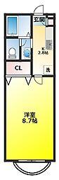 セレ中和倉[2階]の間取り