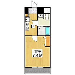 おおきに出町柳サニーアパートメント(旧 S-CREA出町柳)[402号室]の間取り