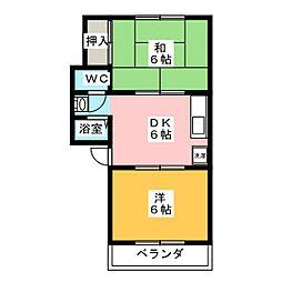 サンシャイン藤[1階]の間取り