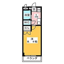 ガストホーフIII[4階]の間取り