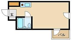 キューブ北武庫之荘1[2階]の間取り