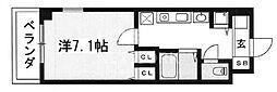 クラウンハイム京都北大路[407号室号室]の間取り