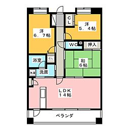 山田ビル鳴海[3階]の間取り