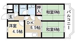 梅森坂マンション[303号室]の間取り