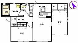 シャングリラ A棟[1階]の間取り