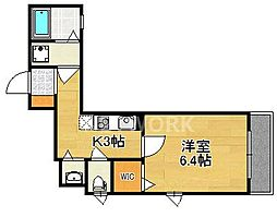 アパートメントヨーカ[202号室号室]の間取り