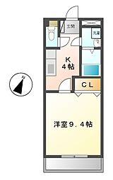 メゾンアムールⅡ[1階]の間取り