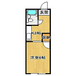 小倉ハイツ[301号室]の間取り