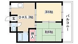 愛知県名古屋市名東区八前1丁目の賃貸マンションの間取り