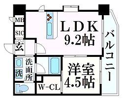 阪急神戸本線 春日野道駅 徒歩7分の賃貸マンション 2階1LDKの間取り