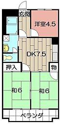 シャトレ熊西III[205号室]の間取り