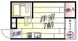 JPアパートメント摂津[2階]の間取り