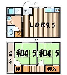 [一戸建] 埼玉県志木市幸町4丁目 の賃貸【/】の間取り