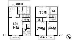 [テラスハウス] 兵庫県伊丹市奥畑2丁目 の賃貸【/】の間取り