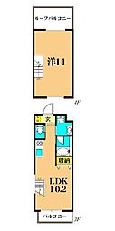 JR京浜東北・根岸線 大森駅 徒歩20分の賃貸マンション 3階1LDKの間取り