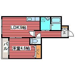 北海道札幌市豊平区月寒東一条14丁目の賃貸マンションの間取り