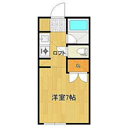 ピュア東中島[205号室]の間取り