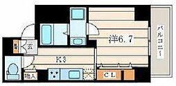 JR相模線 香川駅 徒歩1分の賃貸マンション 3階1Kの間取り