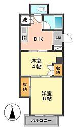 東京都江戸川区西小岩2丁目の賃貸マンションの間取り