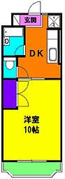静岡県磐田市東名の賃貸マンションの間取り