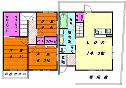 [タウンハウス] 福岡県福岡市東区奈多2丁目 の賃貸【/】の間取り