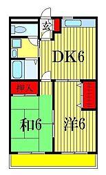 笹塚マンション[2階]の間取り