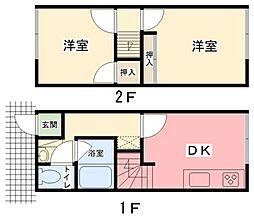 [テラスハウス] 兵庫県姫路市辻井2丁目 の賃貸【/】の間取り