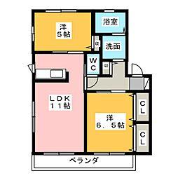 センスリッツ[1階]の間取り