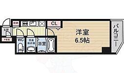 Osaka Metro御堂筋線 大国町駅 徒歩2分の賃貸マンション 6階1Kの間取り