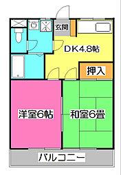 ニューハイツ安田[2階]の間取り