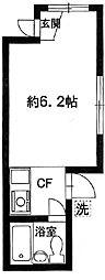 東京都板橋区加賀1丁目の賃貸アパートの間取り